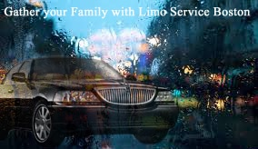 Family with Limo Service Boston